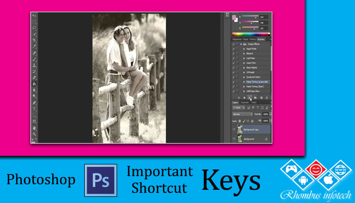 rhombus-infotech-photoshop-important-shortcut-keys